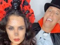 Каменских метнула нож Потапу в голову. Супруги записали видео в стиле Хэллоуин